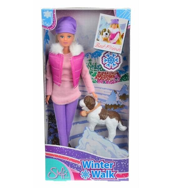 Куклы и одежда для кукол Simba Кукла Штеффи на прогулке с собакой куклы и одежда для кукол simba кукла штеффи с коляской