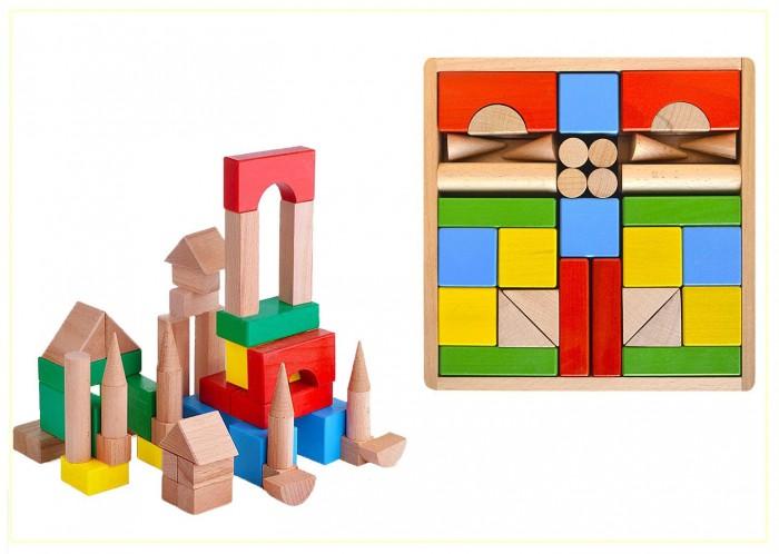 Деревянные игрушки Престиж-Игрушка Конструктор (50 деталей) Цветной деревянные игрушки престиж игрушка кубики азбука 30 деталей