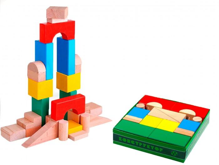 Деревянные игрушки Престиж-Игрушка Конструктор (30 деталей) Цветной деревянные игрушки престиж игрушка кубики азбука 30 деталей