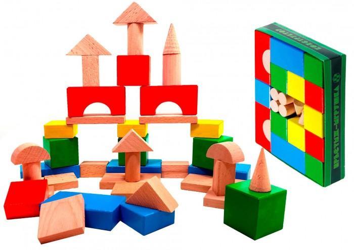 Деревянные игрушки Престиж-Игрушка Конструктор (42 детали) Цветной игровые наборы игрушки из дерева детская игрушка трасса город