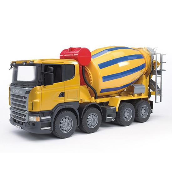 Машины Bruder Бетономешалка Scania машины bruder лесовоз scania с портативным краном и брёвнами