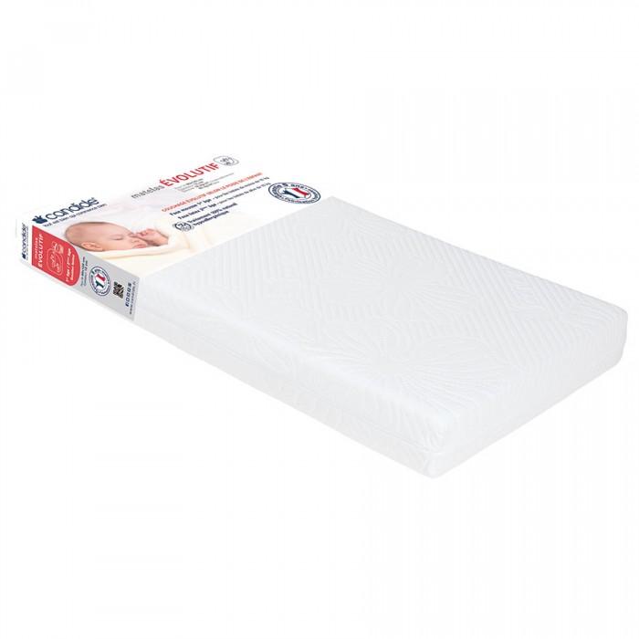 Матрас Candide для кровати со съемным чехлом Adjustable mattress 60х120для кровати со съемным чехлом Adjustable mattress 60х120Candide Матрас для кровати со съемным чехлом Adjustable mattress 60х120 двухсторонний и трансформируемый матрас. С одной стороны используется для новорожденных детей до 10кг (плотность 16 кг/м3), а с другой стороны для детей с массой тела более 10 кг.  Съемный чехол Состав: микроперфорированная латексная основа, полиуретан 100% натуральный гипоаллергенный<br>
