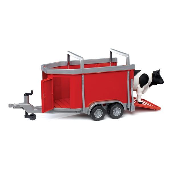 Машины Bruder Прицеп для перевозки крупного рогатого скота с коровой куплю автомобильный прицеп в городах салават мелеуз стерлитамак