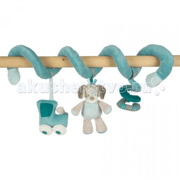 Дуги для колясок и автокресел Nattou Toy spiral Gaston & Cyril Лошадка и Собачка, Дуги для колясок и автокресел - артикул:35520