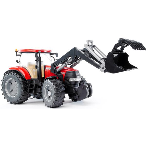 Bruder Трактор Case CVX 230 с погрузчикомТрактор Case CVX 230 с погрузчикомТрактор Bruder Case CVX 230 с погрузчиком   Особенности:    Cоздан в масштабе 1 к 16, поэтому идеально совместим с иными машинками, автомобилями и спец. техникой Брудер соответствующей серии.   Трактор оснащен дополнительным рулем с приводом, который позволяет регулировать поворот колес.   Специальная подвеска передней оси облегчает преодоление сложных препятствий.  Двери и капот открываются.   Прорезиненные колеса не оставляют следов на разных типах поверхностей.   Они обеспечивают удобную для пользователя мягкость хода.<br>