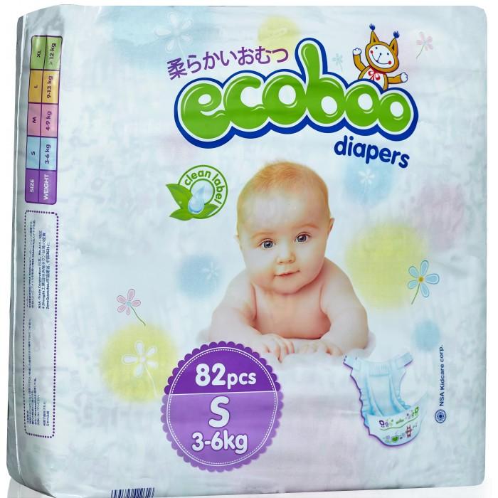 Гигиена и здоровье , Подгузники Ecoboo Подгузники S (3-6 кг) 82 шт. арт: 355825 -  Подгузники