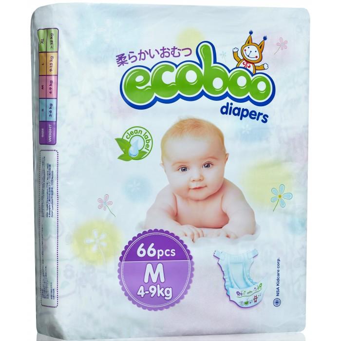 Гигиена и здоровье , Подгузники Ecoboo Подгузники M (4-9 кг) 66 шт. арт: 355835 -  Подгузники