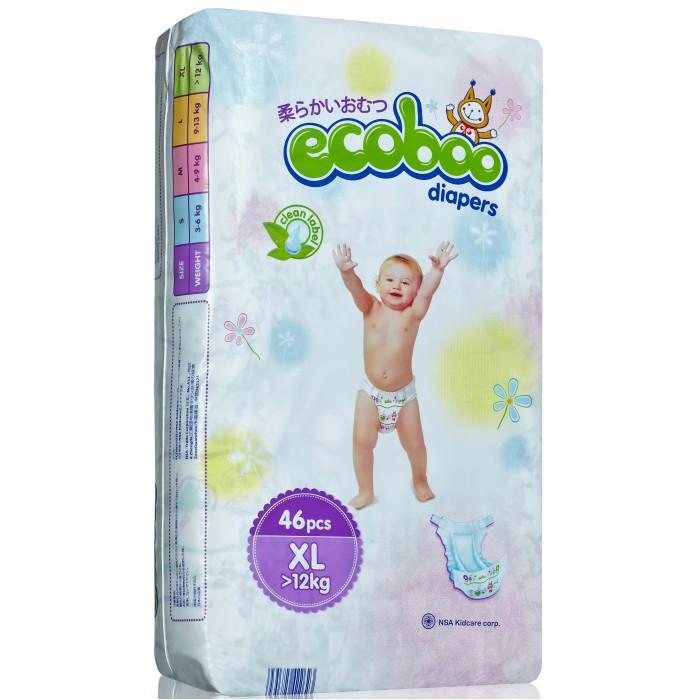 Гигиена и здоровье , Подгузники Ecoboo Подгузники XL (12+ кг) 46 шт. арт: 355855 -  Подгузники