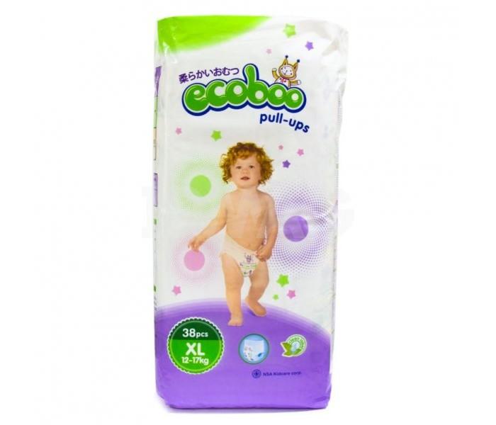 Подгузники-трусики Ecoboo Подгузники-трусики XL (12-17 кг) 38 шт. подгузники детские ecoboo детские одноразовые подгузники трусики
