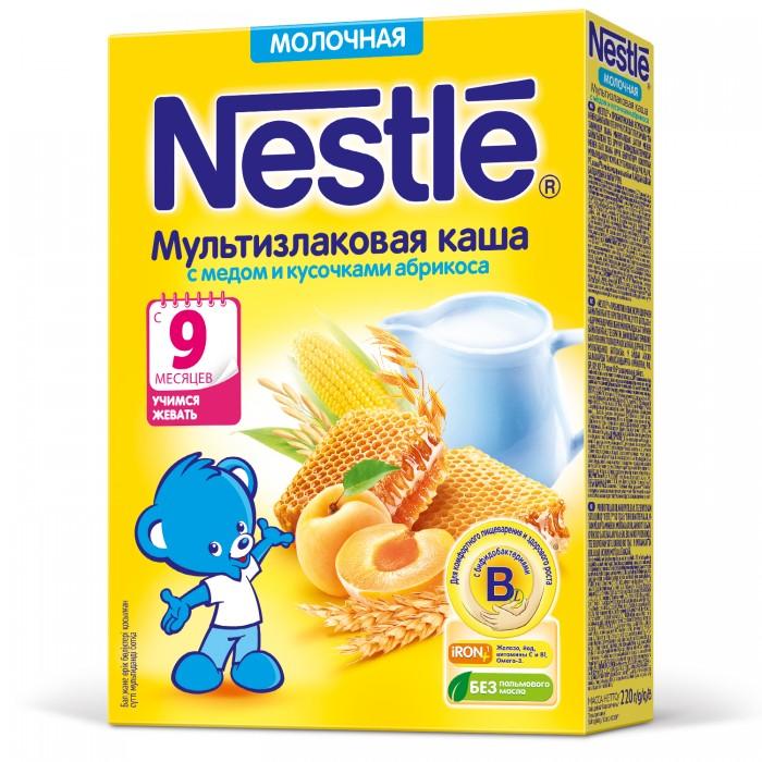 Каши Nestle Молочная мультизлаковая каша с мёдом и кусочками абрикоса с 9 мес. 220 г каши nestle молочная мультизлаковая каша с мёдом и кусочками абрикоса с 9 мес 220 г