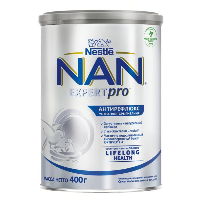 Молочные смеси NAN Антирефлюкс Сухая молочная смесь для детей с рождения 400 г молочная смесь nan антиколики с рождения 400 г