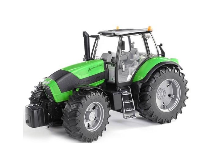 Bruder Трактор Deutz Agrotron X720Трактор Deutz Agrotron X720Трактор Bruder Deutz Agrotron X720   Особенности:    Открыв кабину, можно разместить в сиденье фигурку водителя (которая приобретается отдельно).   На мягких шинах видны обозначения знаменитых производителей.   В этой модели открывается капот для доступа к моторному отсеку.   При переезде по пересеченной местности устойчивость помогает сохранить подвеска на амортизаторах.   Поворачиваются колеса с использованием выносного руля.  Особенный интерес вызывает список дополнительного оборудования, которое пригодится для расширения базовых возможностей .   Cоздан в масштабе 1 к 16, поэтому идеально совместим с иными машинками, автомобилями и спец. техникой Брудер соответствующей серии.<br>