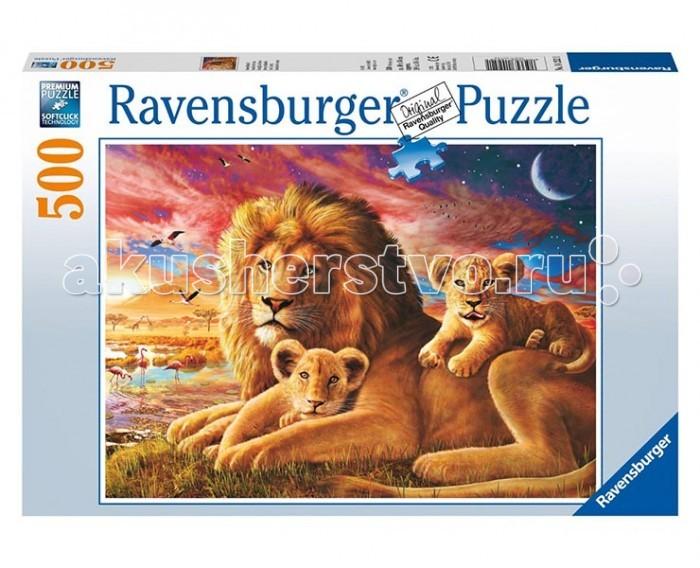 Фото Пазлы Ravensburger Пазл Семейство львов 500 элементов