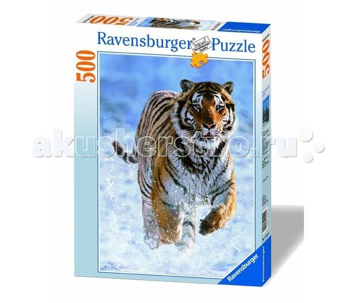 Пазлы Ravensburger Пазл Тигр на снегу 500 элементов ravensburger пазл галопом по снегу 500 деталей