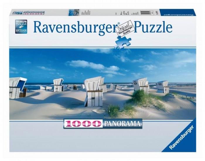 Пазлы Ravensburger Пазл панорамный Пляжные корзинки на Зюлте 1000 элементов пазлы ravensburger паззл маяк на полуострове брус 1000 шт