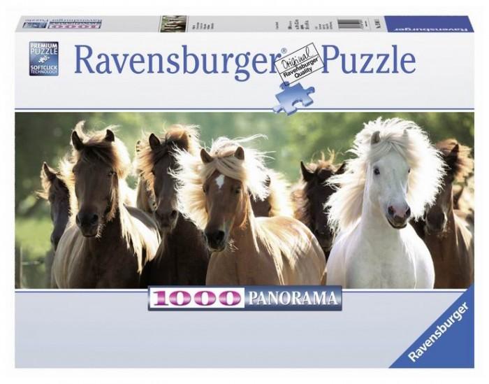 Пазлы Ravensburger Пазл панорамный Дикие лошади 1000 элементов
