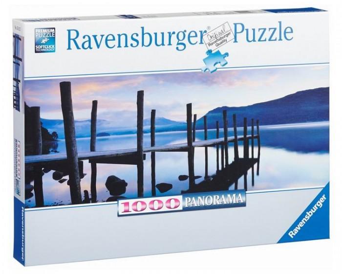 Пазлы Ravensburger Пазл панорамный Идиллия на озере 1000 элементов пазлы ravensburger паззл маяк на полуострове брус 1000 шт