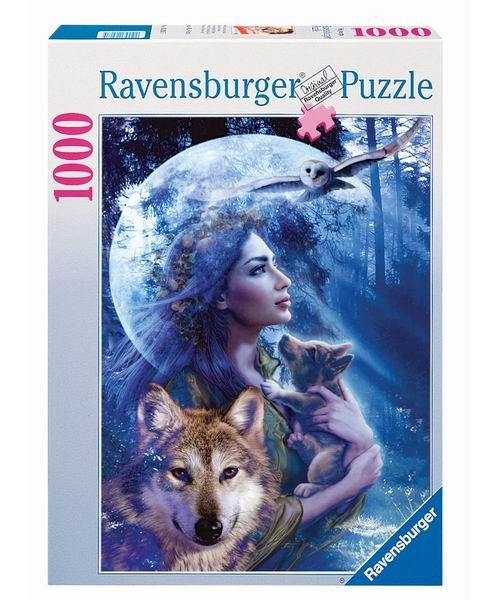 Пазлы Ravensburger Пазл Богиня волков 1000 элементов ravensburger пазл рынок подержанных авто 1000 деталей
