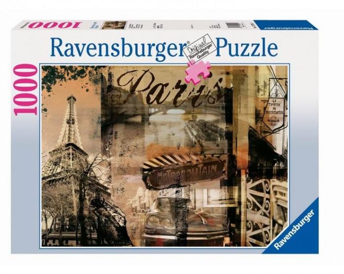 Пазлы Ravensburger Пазл Воспоминание о Париже 1000 элементов