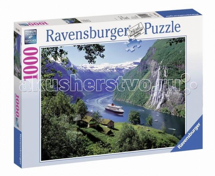 Пазлы Ravensburger Пазл Норвежский фьорд 1000 элементов палатки фьорд нансен купить в луганске