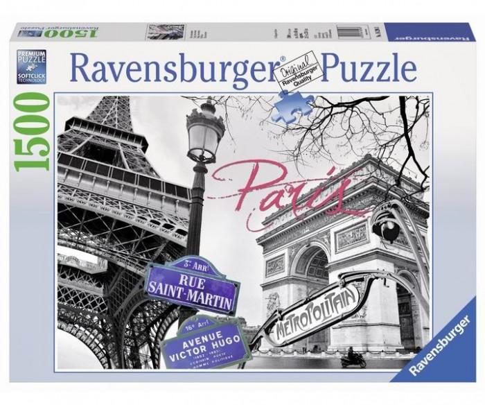 Пазлы Ravensburger Пазл Мой Париж 1500 элементов ravensburger пазл тихая бухта 1500 деталей