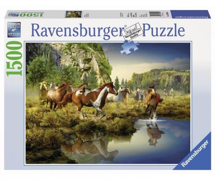 Пазлы Ravensburger Пазл Дикие лошади 1500 элементов ravensburger пазл тихая бухта 1500 деталей
