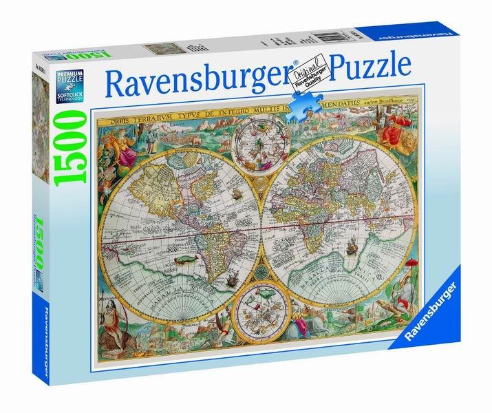 Купить Пазлы, Ravensburger Пазл Историческая карта 1500 элементов