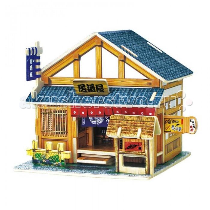 конструкторы robotime часы конструктор деревянные ослик раскраска Пазлы Robotime Деревянные 3D пазлы Японский бар 30 деталей