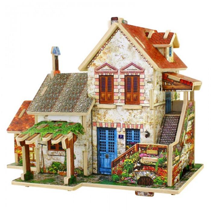 Пазлы Robotime Деревянные 3D пазлы Французский фермерский домик 44 детали игрушечные машинки 3d пазлы пазлы деревянные игрушки летательный аппарат автомобиль 3d своими руками дерево классика мальчики