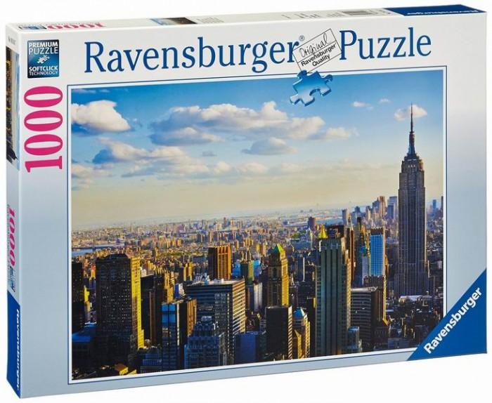 Пазлы Ravensburger Пазл Утро на Манхэттене 1000 элементов пазлы origami пазл дм зайчик и волчонок 25 элементов