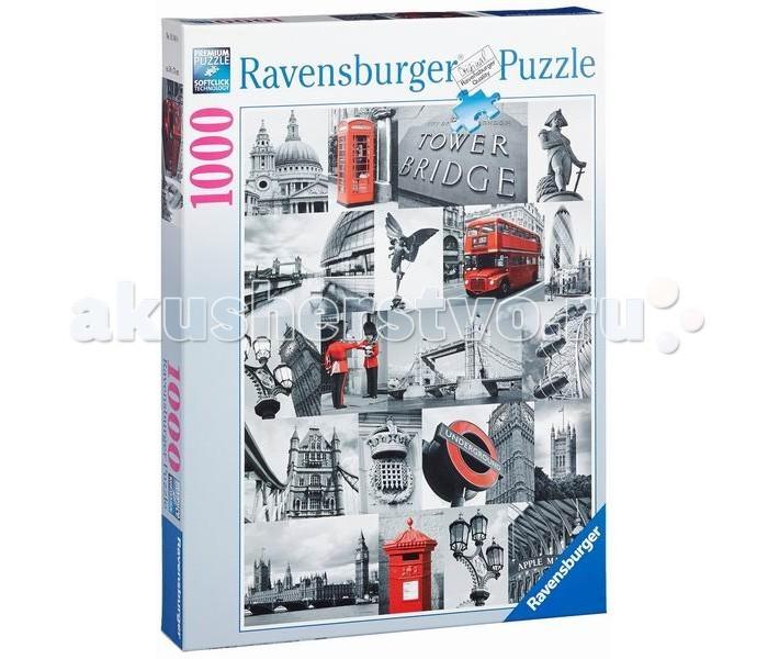 Пазлы Ravensburger Пазл Лондон в картинках 1000 элементов пазлы origami пазл дм зайчик и волчонок 25 элементов