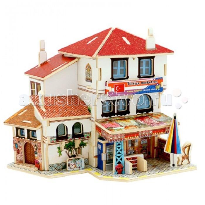 Пазлы Robotime Деревянные 3D пазлы Турецкий магазин 43 детали пазлы абвгдейка пазлы 3d движущиеся с механизмом машина