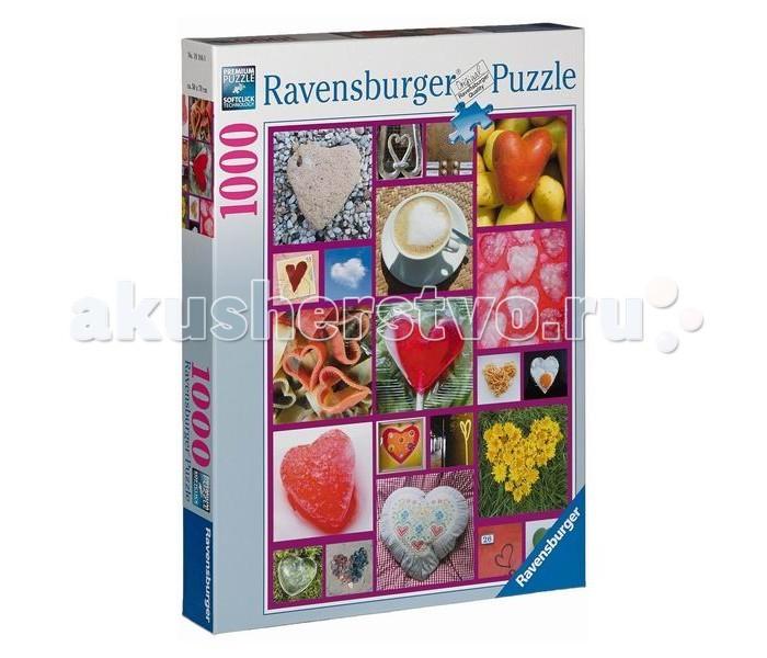 Пазлы Ravensburger Пазл Сердца 1000 элементов ravensburger пазл пышное цветение 1000 деталей