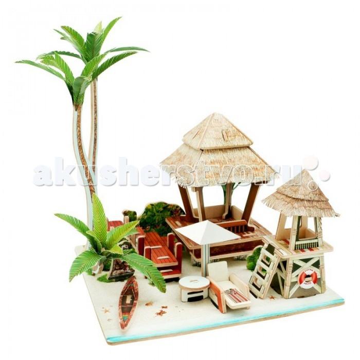 Пазлы Robotime Деревянные 3D пазлы Бунгало на Бали 69 деталей 3d пазлы