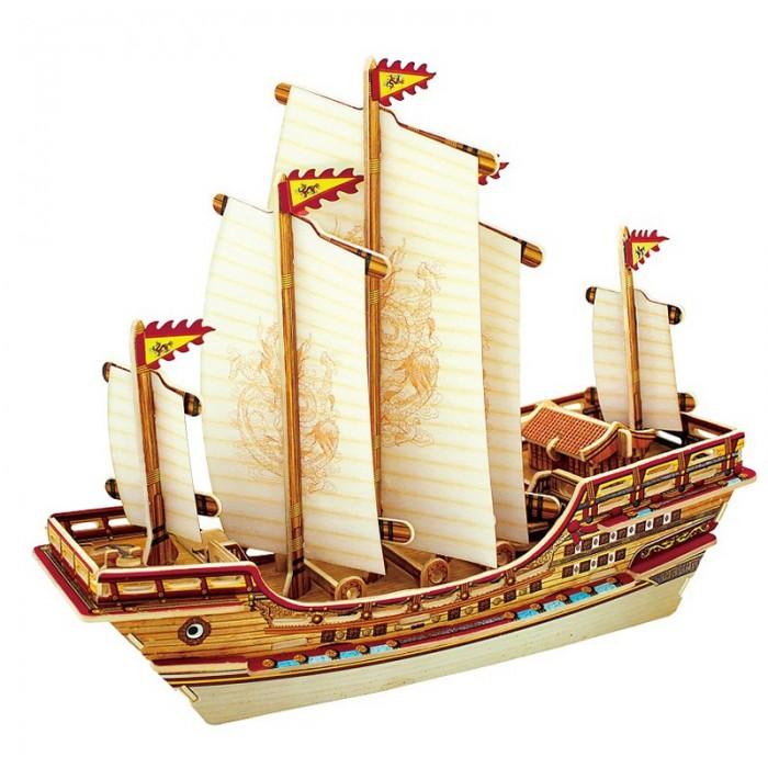 Пазлы Robotime Деревянные 3D пазлы Китайский корабль 66 деталей пазлы robotime деревянные 3d пазлы кухня 21 деталь