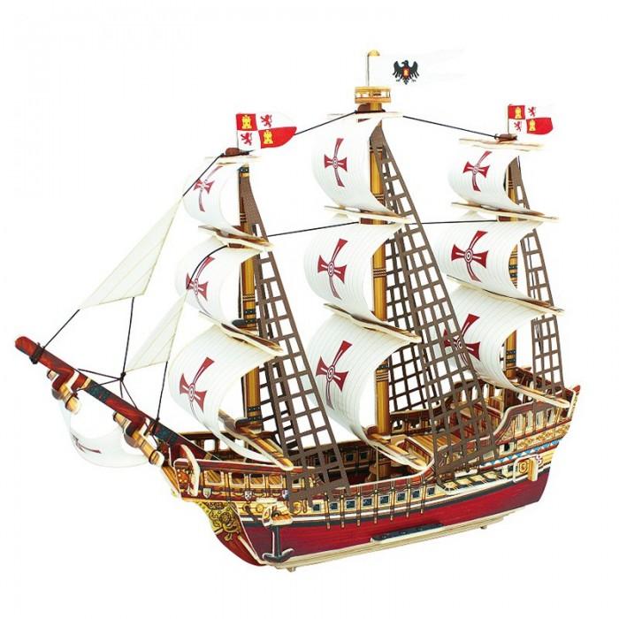 Пазлы Robotime Деревянные 3D пазлы Корабль Санта-Мария 64 детали корабль моделист санта мария колумба 1 150 115002