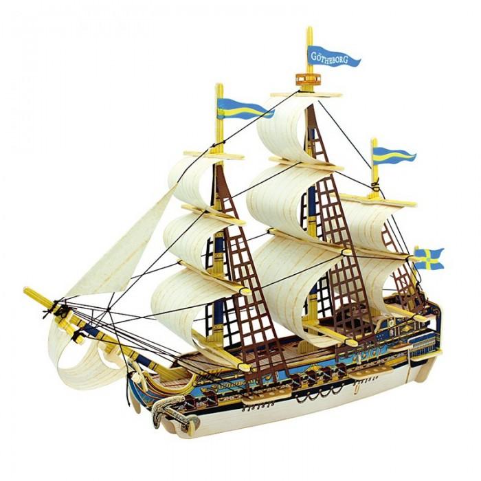 конструкторы robotime часы конструктор деревянные пингвин раскраска Пазлы Robotime Деревянные 3D пазлы Шведский корабль 52 детали