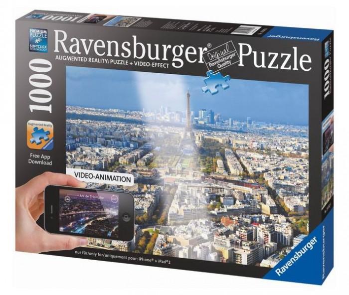 Ravensburger Пазл Крыши Парижа с видео-анимацией 1000 элементов