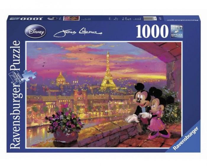 Пазлы Ravensburger Пазл Микки и Минни в Париже 1000 элементов пазлы ravensburger паззл маяк на полуострове брус 1000 шт