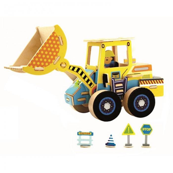 конструкторы robotime часы конструктор деревянные панда раскраска Пазлы Robotime Деревянные 3D пазлы Грузоподъемник 44 детали