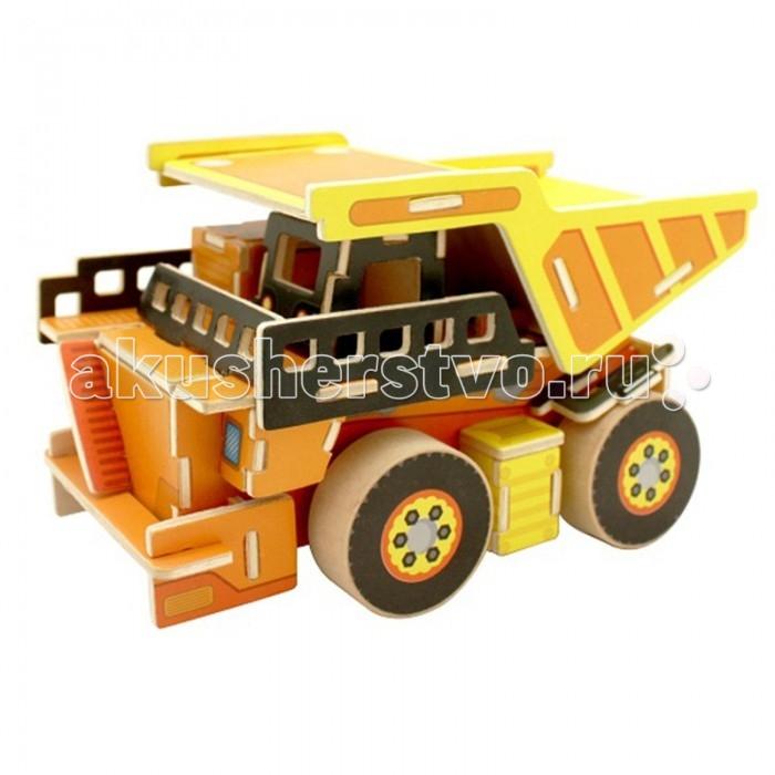 конструкторы robotime часы конструктор деревянные белка раскраска Пазлы Robotime Деревянные 3D пазлы Самосвал 64 детали