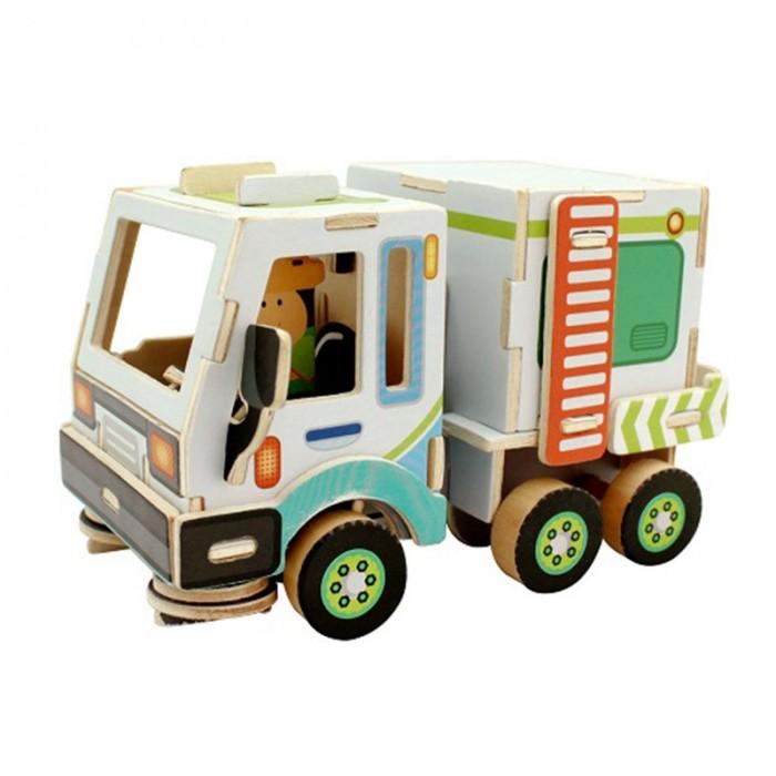 Пазлы Robotime Деревянные 3D пазлы Уборочная машина 48 деталей пазлы бомик пазлы книжка репка