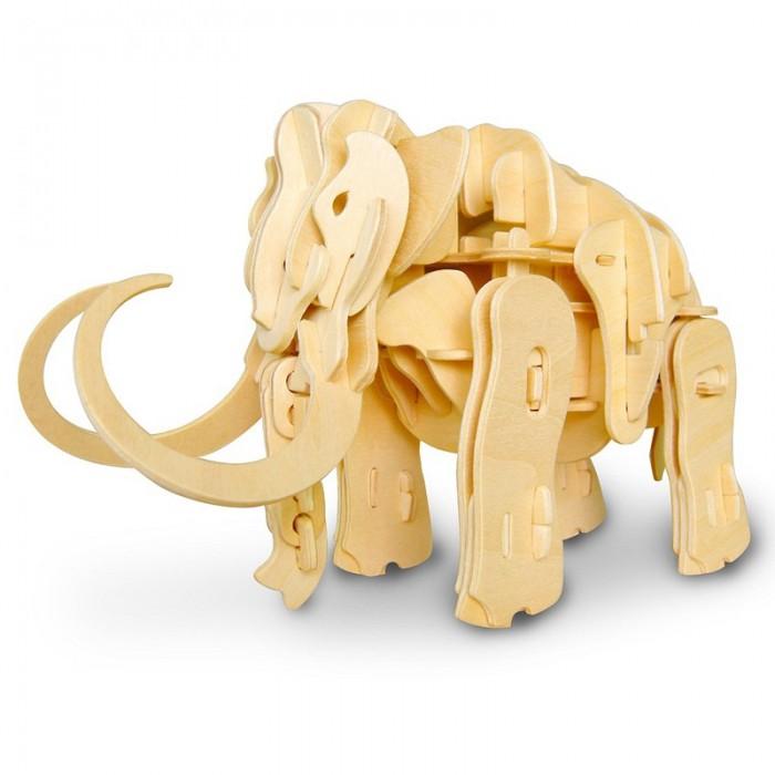 Пазлы Robotime Деревянные 3D пазлы Мамонт управление звуком 87 деталей пазлы бомик пазлы книжка репка