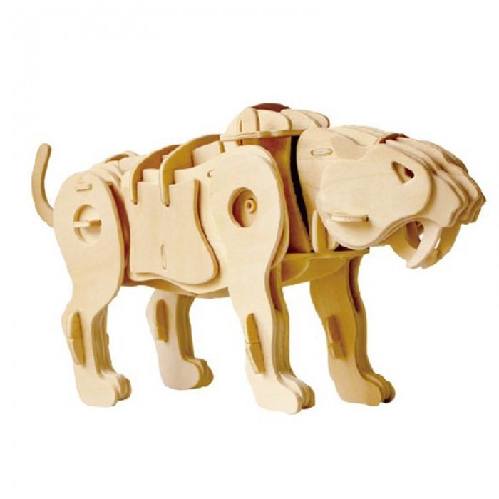 пазлы robotime деревянные 3d пазлы экскаватор 60 деталей Пазлы Robotime Деревянные 3D пазлы Тигр управление звуком 75 деталей