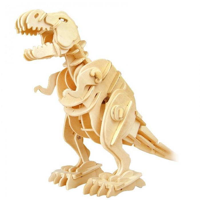 пазлы robotime деревянные 3d пазлы экскаватор 60 деталей Пазлы Robotime Деревянные 3D пазлы Тиранозавр ходящий управление звуком 85 деталей
