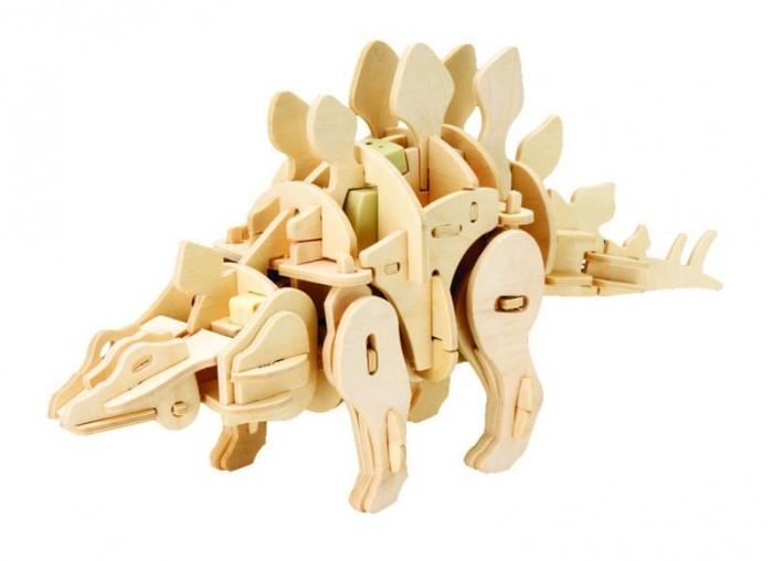 пазлы robotime деревянные 3d пазлы экскаватор 60 деталей Пазлы Robotime Деревянные 3D пазлы Мини стегозавр ходящий управление звуком 75 деталей