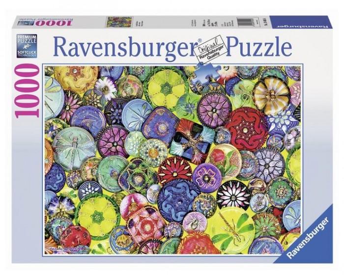 Пазлы Ravensburger Пазл Разноцветные пуговицы 1000 элементов ravensburger пазл рынок подержанных авто 1000 деталей