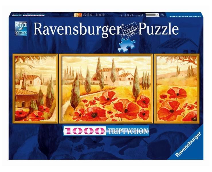 Пазлы Ravensburger Пазл-триптих Маки Тосканы 1000 шт ravensburger маки тосканы пазл триптих 1000 элементов
