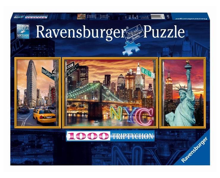 Пазлы Ravensburger Пазл-триптих Ослепительный Нью-Йорк 1000 элементов ravensburger маки тосканы пазл триптих 1000 элементов