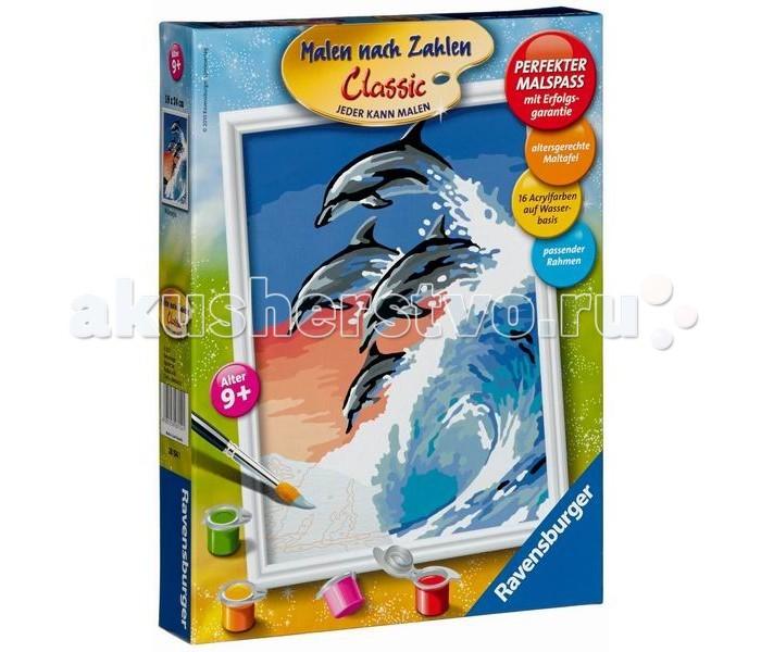 Картины по номерам Ravensburger по номерам Дельфины ravensburger раскраска по номерам дельфины ravensburger
